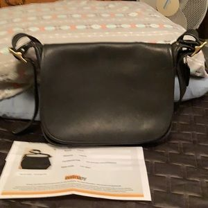 Coach Black leather Saddle shoulder bag